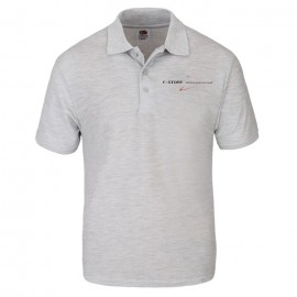 E-Store High Quality Fruit of the Loom® Grey polo T-Shirt