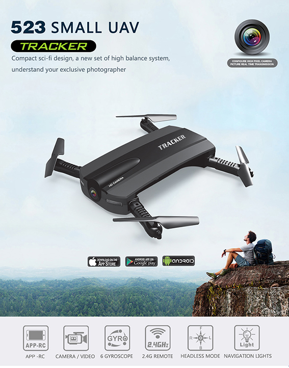 Foldable Selfie drone - UAV, UAS, DRONE, FPV systems & wireless